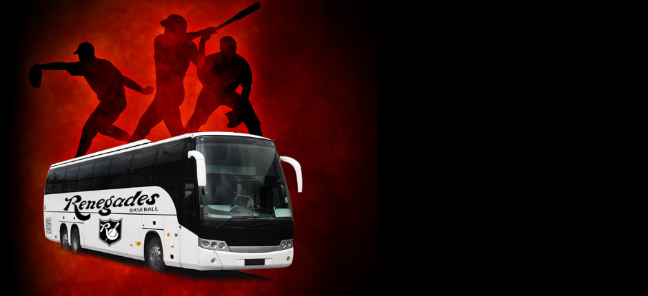 image of a bus with baseball players