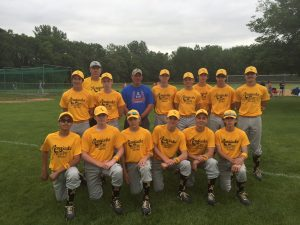 Mr. Wallin pictured with the 14u Renegades